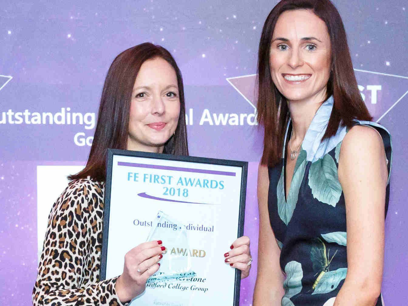 FE First Awards 2018, College Marketing Network, Katie Featherstone, Bedford College Group