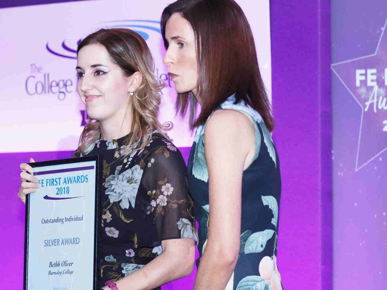 FE First Awards 2018, College Marketing Network, Bethh Oliver, Barnsley College