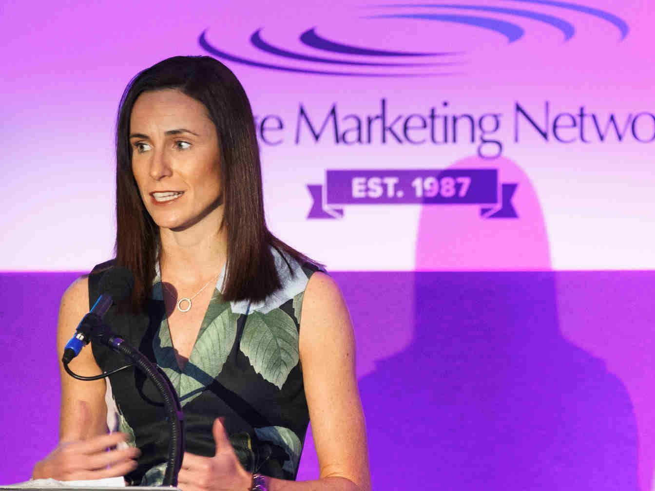 FE First Awards 2018, College Marketing Network, presented by Jo Maher, Principal of Boston College